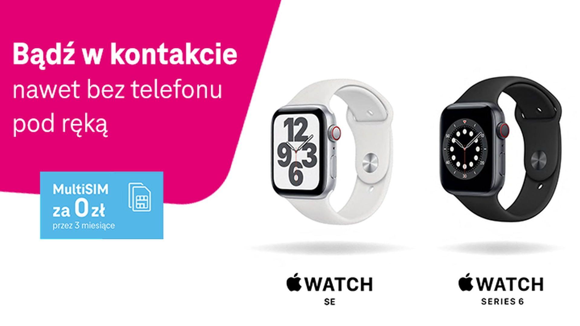 Dostępne zegarki Apple Watch z kartą eSIM w sieci T-Mobile