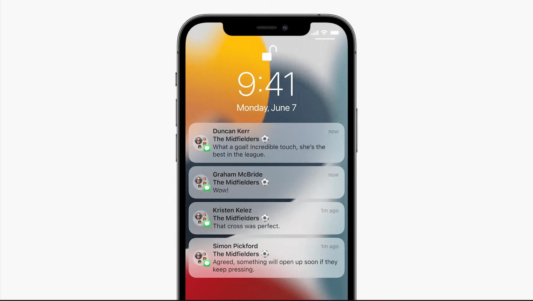 iOS 15 wprowadza przeprojektowane powiadomienia oraz możliwośćustawienia ich priorytetu