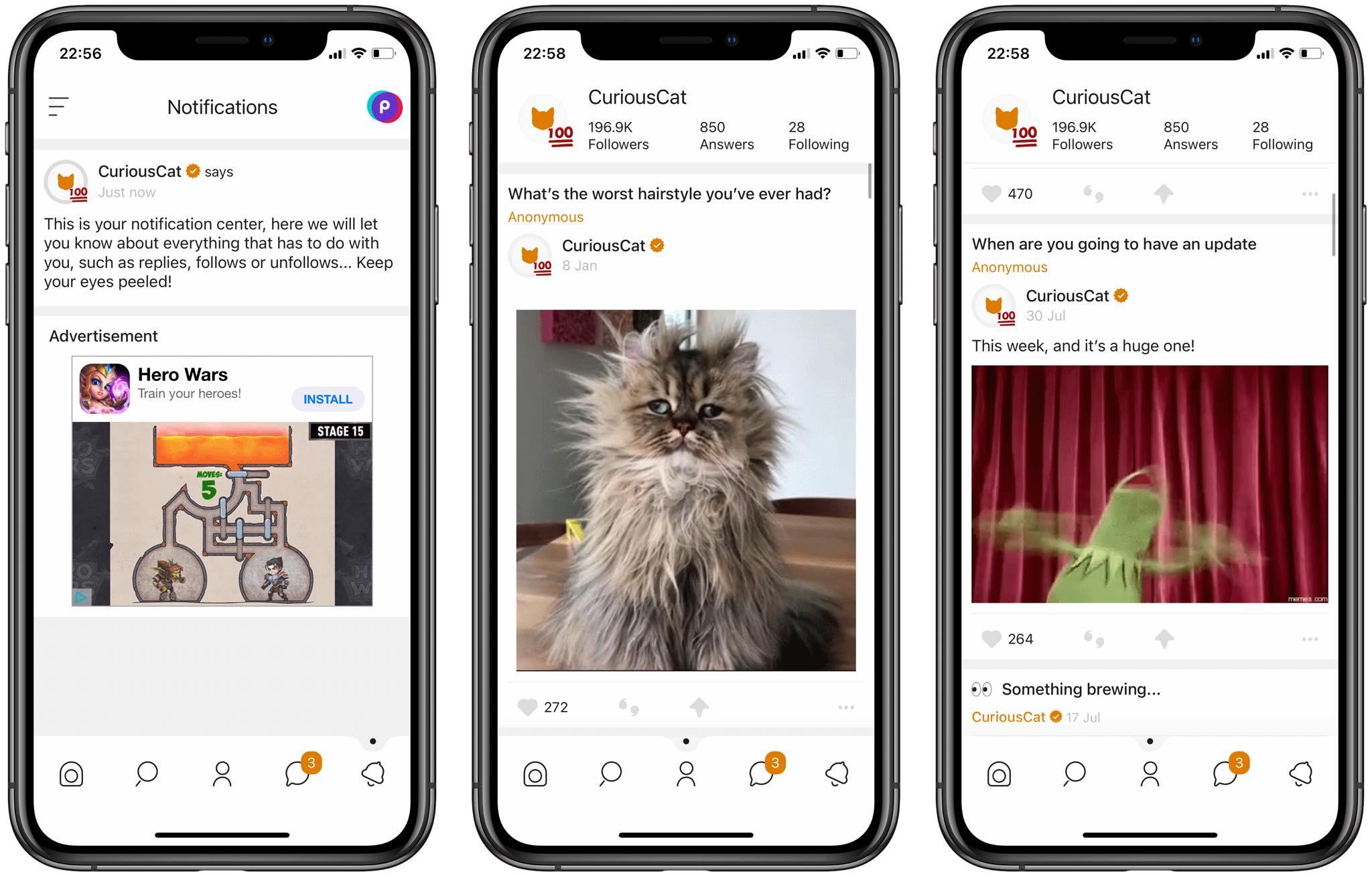#79 Aplikacja tygodnia – Curious Cat. Rozwijaj swoją platformę!