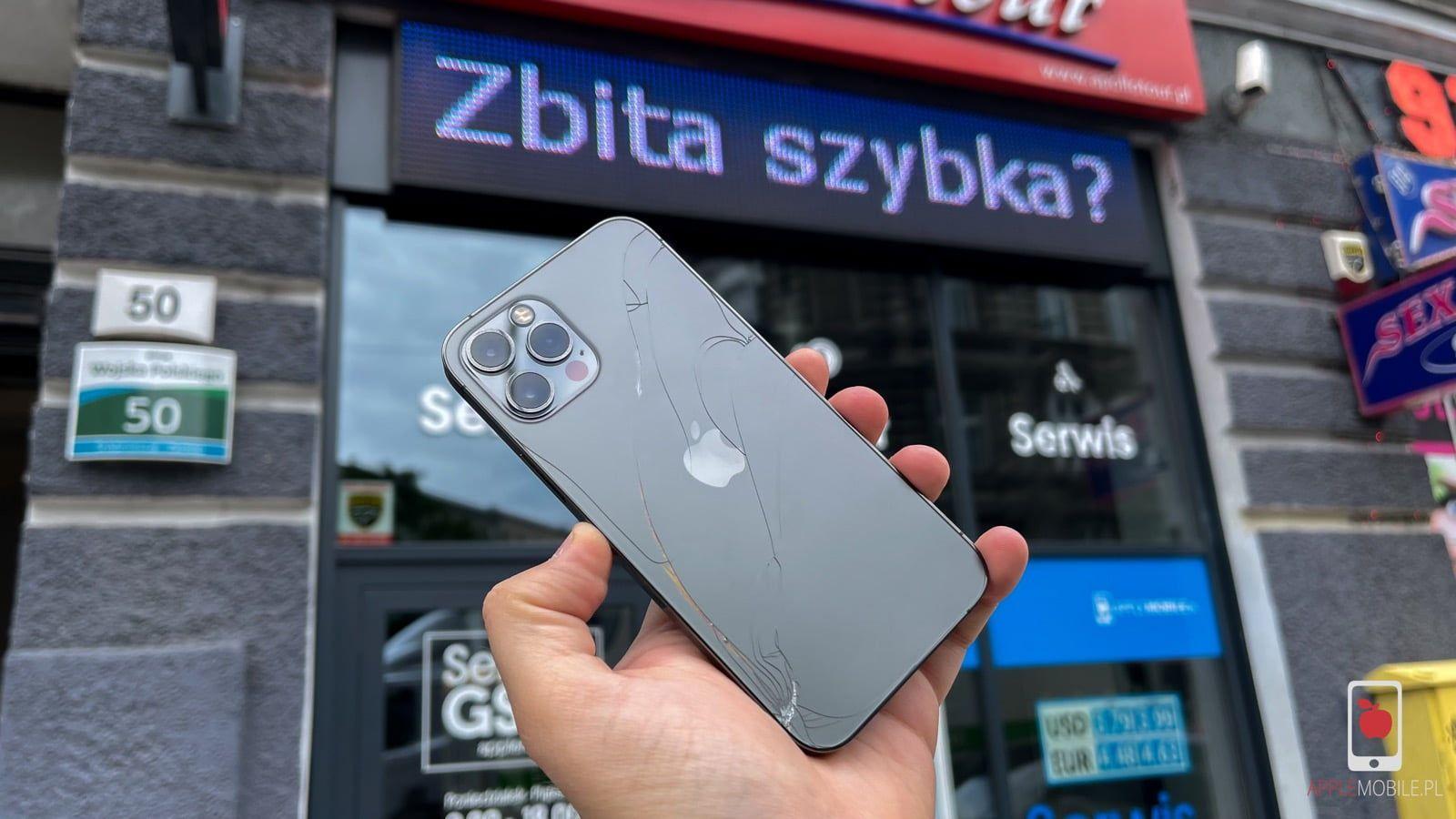 Zbita szybka obudowy w iPhone 12 / iPhone 12 Pro / iPhone 12 Mini / iPhone 12 Pro Max? Wymień tylną szybę klapkę obudowy w iPhone zachowując funkcje telefonu w serwisie apple w Szczecinie.