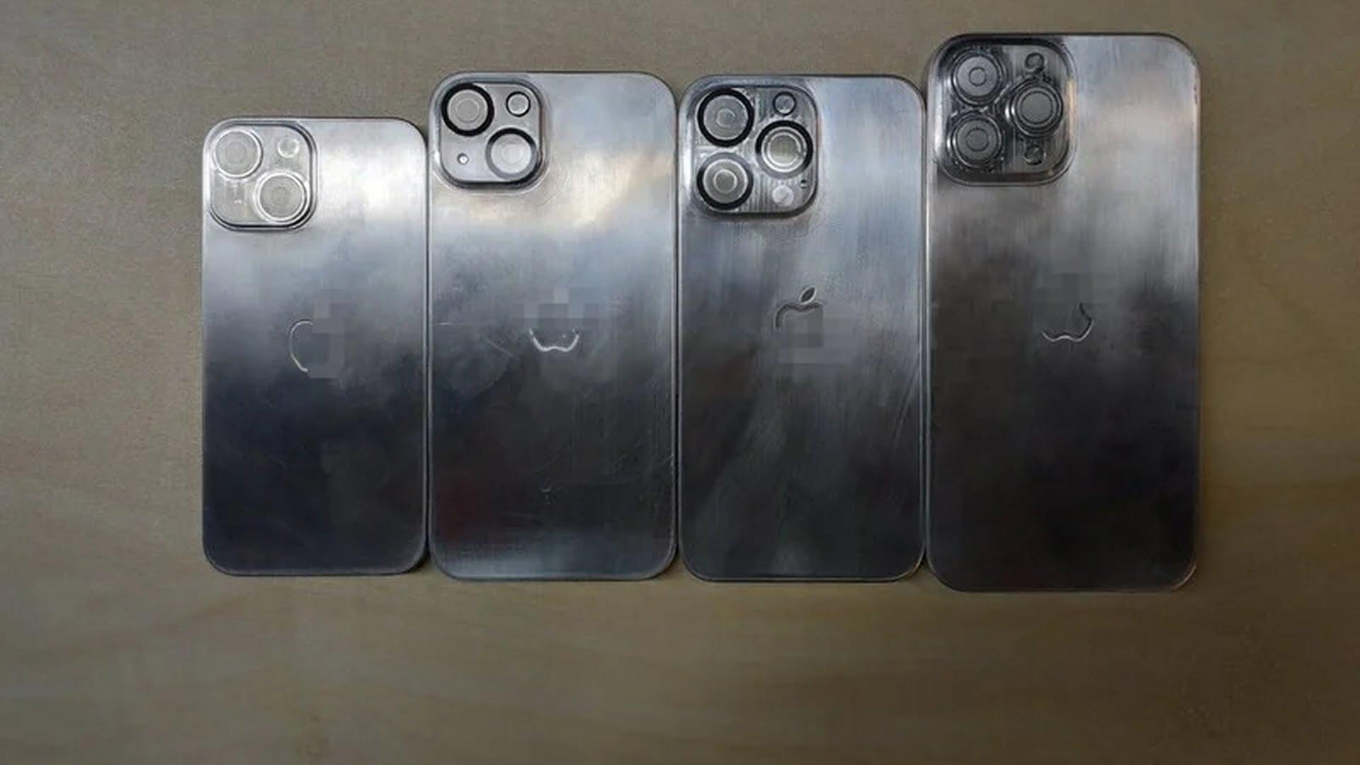 Następne zdjęcia przedstawiające makiety iPhone'ów z serii 13