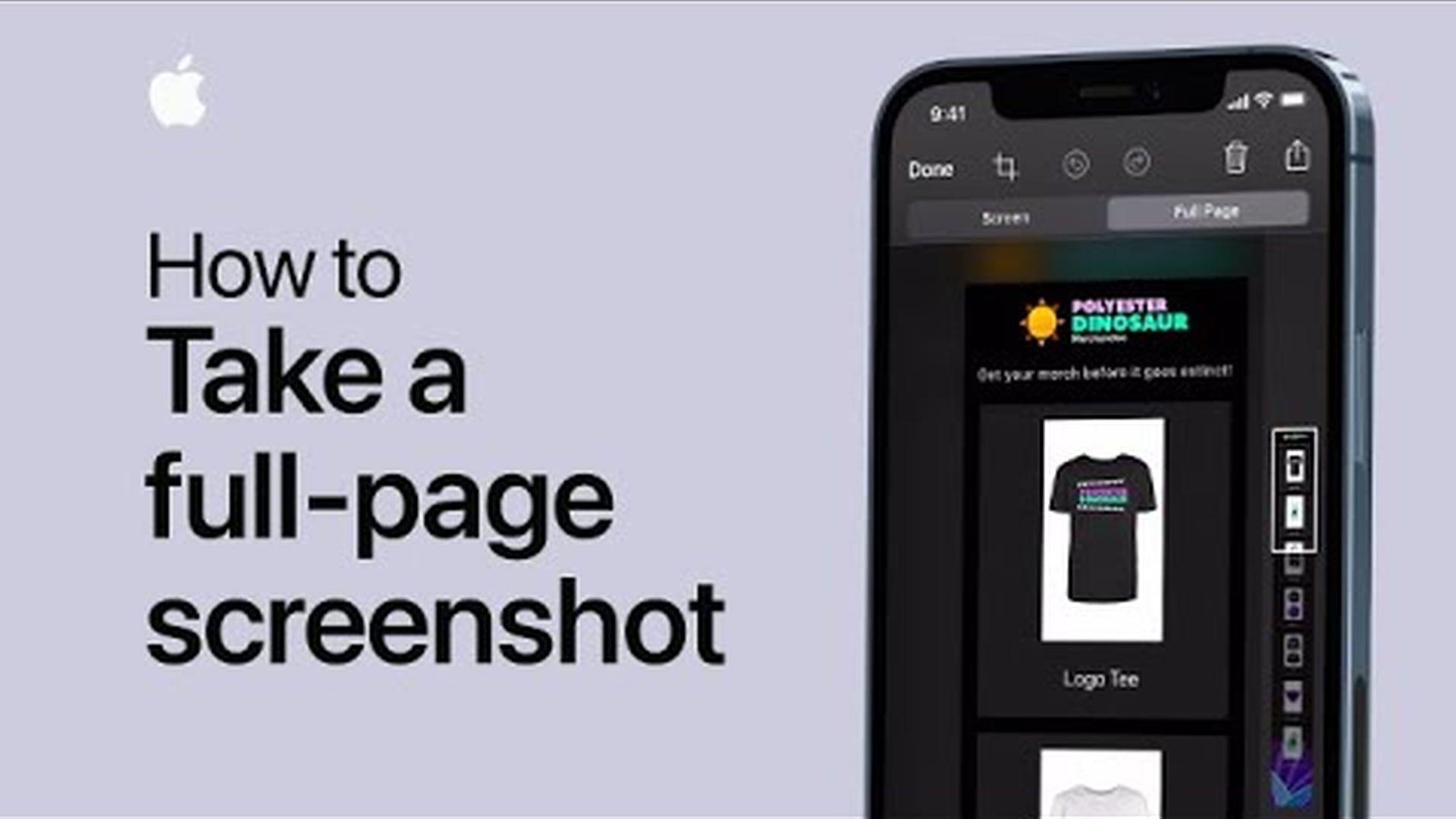 Poradnik Apple: Jak wykonać zrzutu ekranu całej strony
