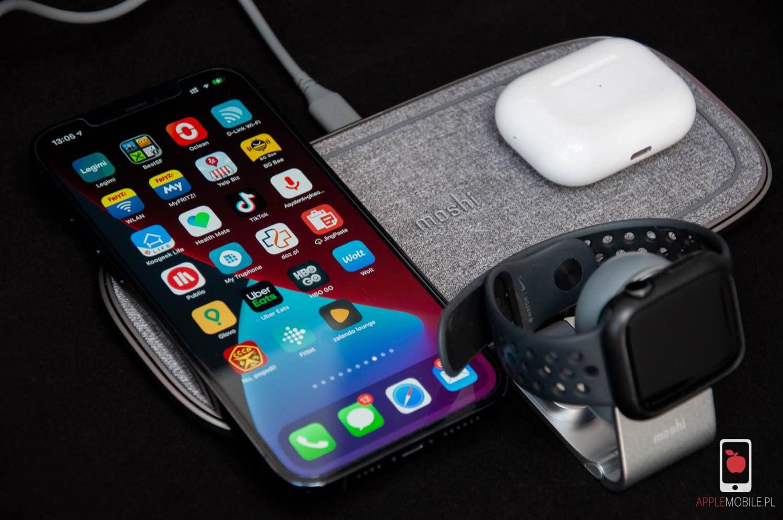Recenzja moshi Sette Q oraz moshi Flekto – potężna ładowarka indukcyjna dla dwóch urządzeń oraz zegarka Apple Watch.
