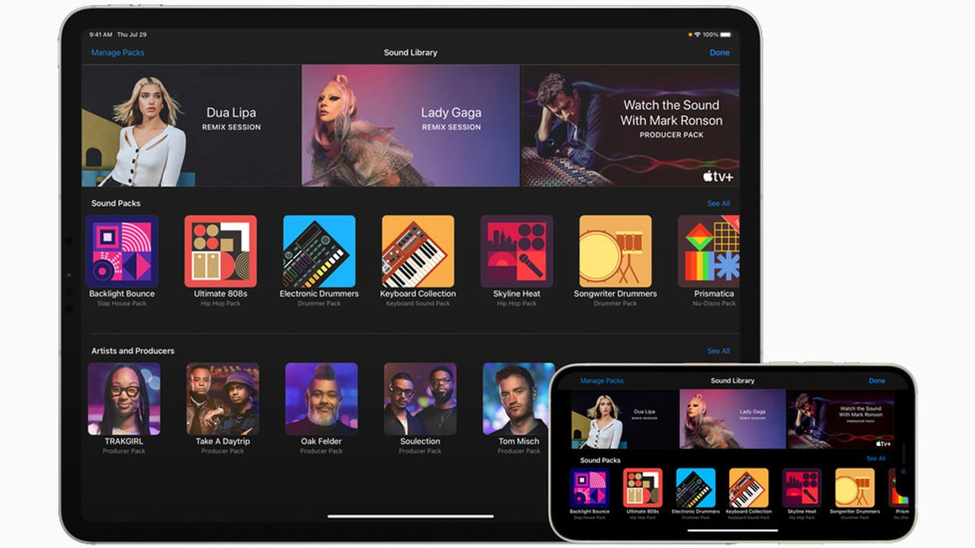 GarageBand w iOS z samplami od Lady Gaga, Dua Lipa i Boys Noize