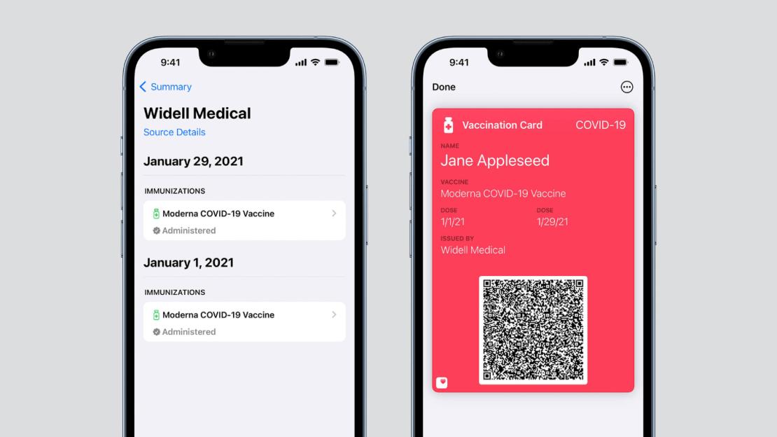iOS 15.1 Beta umożliwia dodanie karty szczepień do aplikacji Wallet